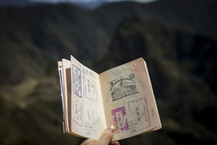 Image of a stamped passport
